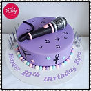 Gluten free, dairy free, egg free, nut free dancing and singing themed microphone cake
