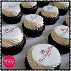 Mini corporate branded cupcakes