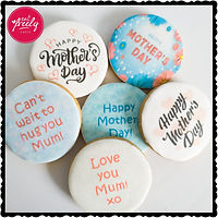 Round Mothers Day Cookies