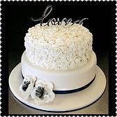 Gluten Free Ruffle Wedding Cake