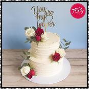 Rajini and Jack's Engagement Cake