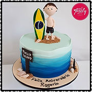 Surfing themed birthday cakes
