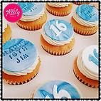 16th birthday white chocolate mud cupcakes