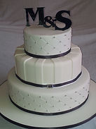 Initials Low FODMAP  Wedding Cake