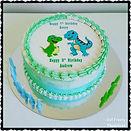 Gluten Free Dairy Free Cute Dinosaur image cake