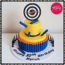 Nerf Gun Themed Cake