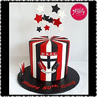 St Kilda themed 50th Birthday Cake
