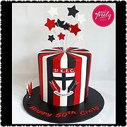 St Kilda FC Chocolate Mud Cake