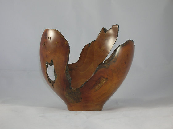 Hand Turned Apple Root Bowl