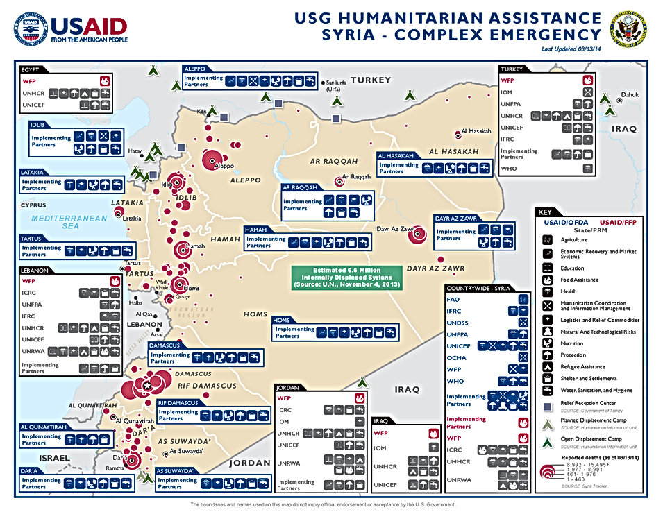 USAID 03.13.14 - Syria Public Fact Sheet map