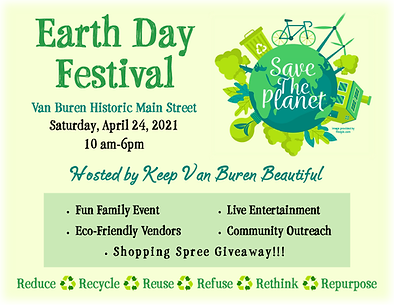 Earth Day Festival Poster by Van Buren AR Chamber of Commerce