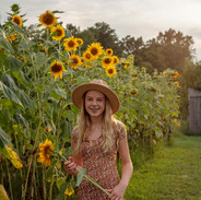 Teen in Sunflower patch