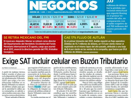 Exige SAT incluir celular en Buzón Tributario