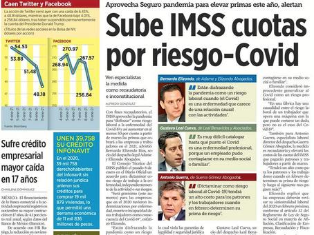 Podría IMSS subir cuotas por riesgo Covid, (entrevista)