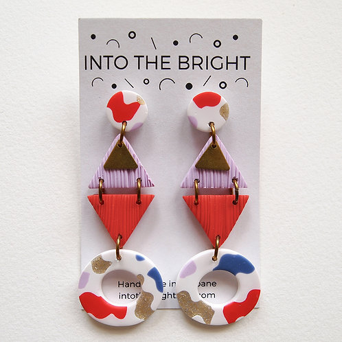 Squiggle Triangle Dangles by Into the Bright