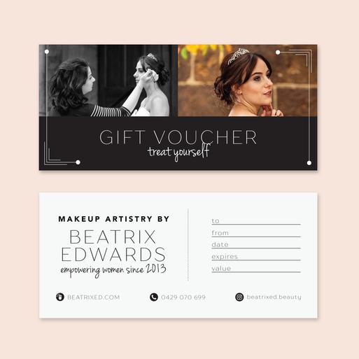 Gift Voucher for Makeup Artist, Beatrix Edwards
