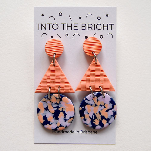 Smudged Confetti Statement Dangles by Into the Bright