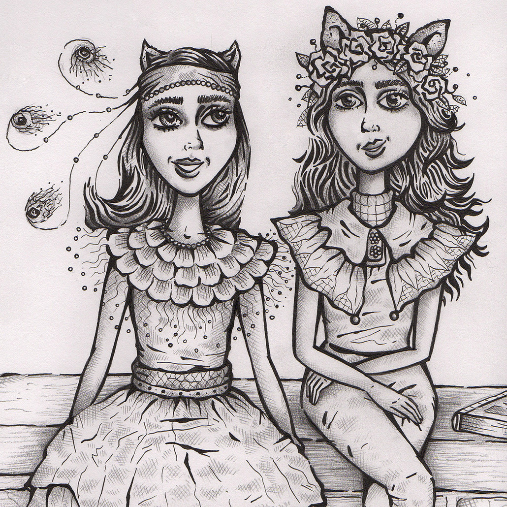 'Laila and Mia' Illustration