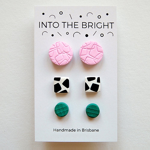 Pretty in Print Studs By Into the Bright