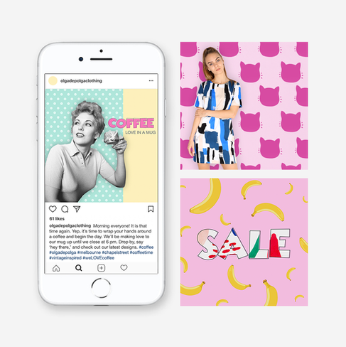 Branding & Social Media Content for fashion brand Olga de Polga