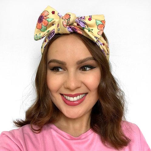 'Bright Blooms' Twist Headband by Sam K Ryan