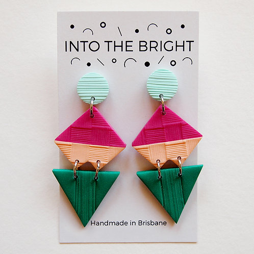 Colour Block Dangles By Into the Bright