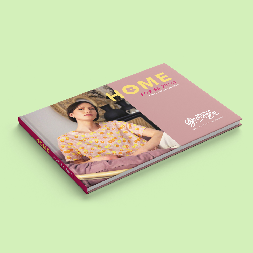40 Page Lookbook Design for Fashion Brand Olga de Polga
