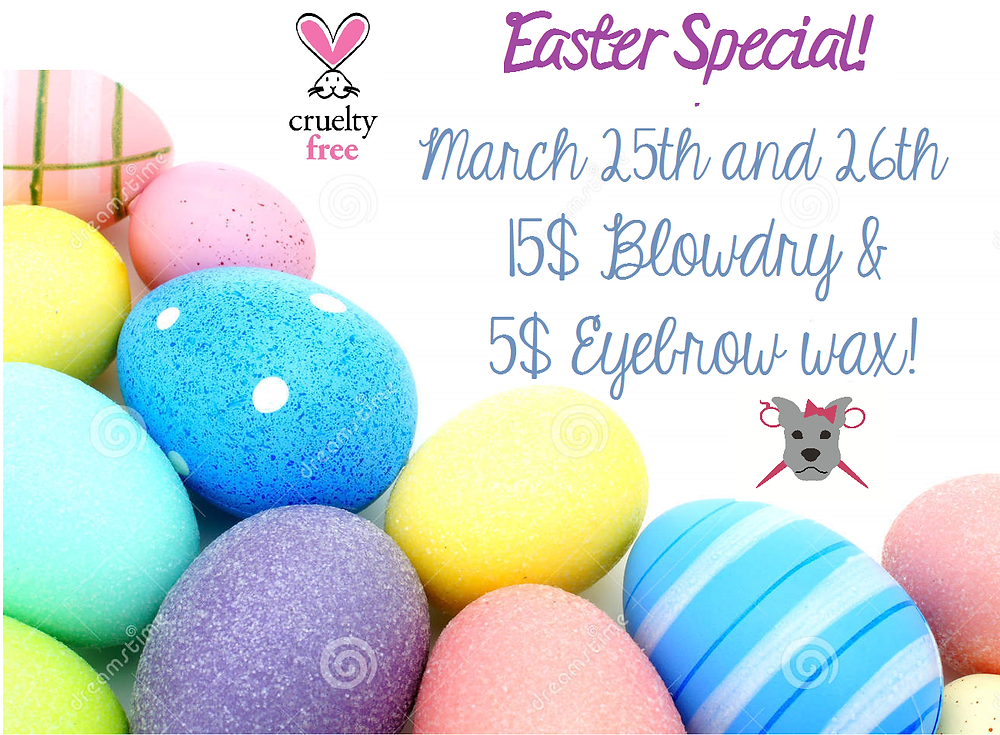 Stop in on Friday 3/25 from 1pm-7pm or Saturday 3/26 from 10am-3pm and take advantage of our special Easter weekend promotion!