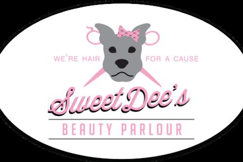 Sweet Dee's Logo Sticker: Oval