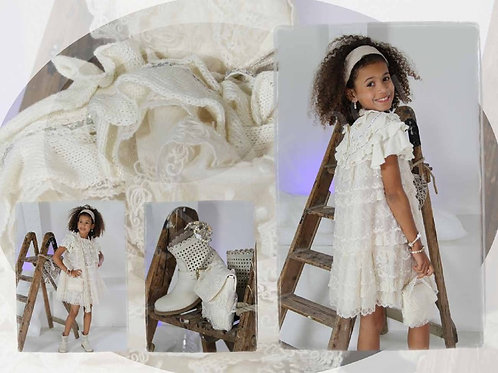 6jaar: Pamilla knitted dress matching bolero