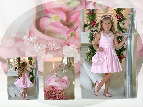 6jaar: Exclusive dress, incl handbag