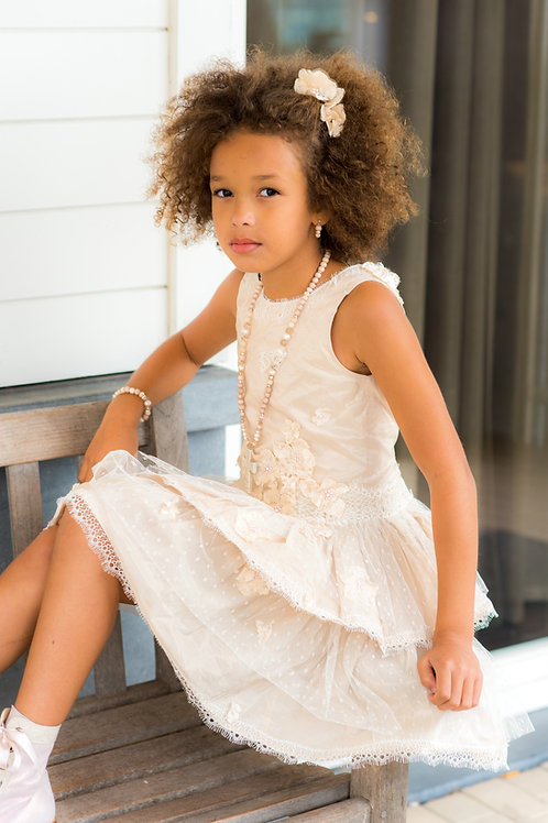 TARATATA dress nude color size 9 years