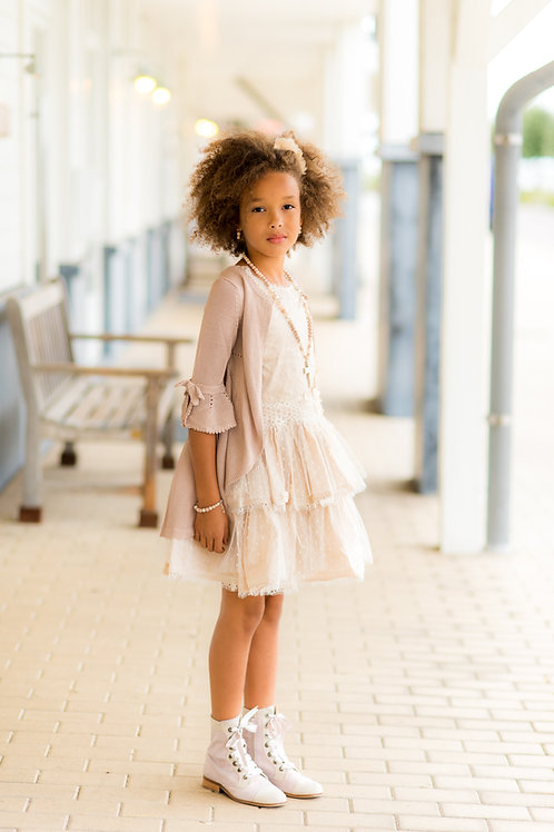 TARATATA dress nude color size 12 years