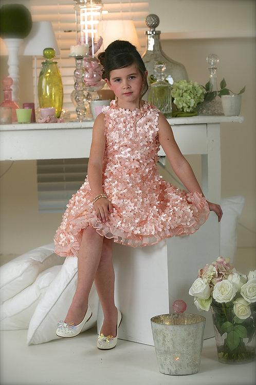 6jaar: Pamilla dress salmon flower bolero incl
