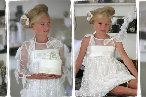 8jaar: Nicky Vankets dress with bolero matching