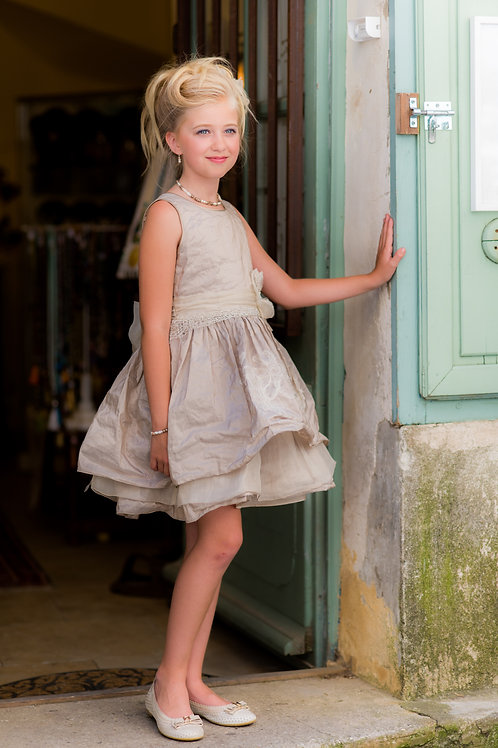 TARATATA dress beige size 9 years