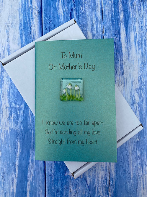 Glass Snowdrops Mother's Day Card