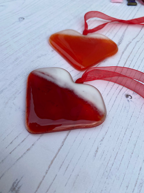 Glass Christmas Heart