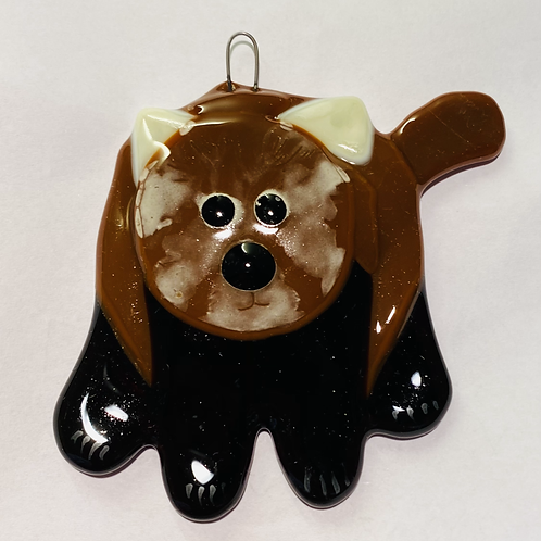 Glass Red Panda Hanging Decoration