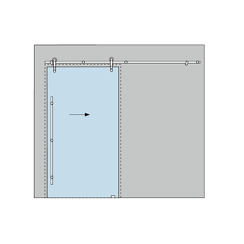 Dorma Manet Compact 4.1 Sliding Door Kit - Glass to Wall