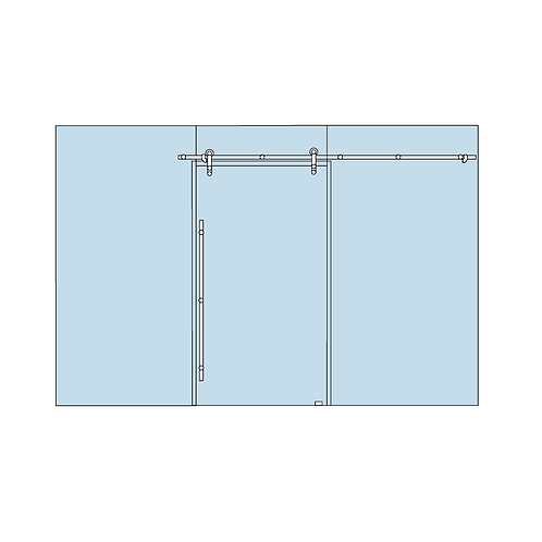 Dorma Manet Compact 6.1 Sliding Door Kit - Glass to Glass