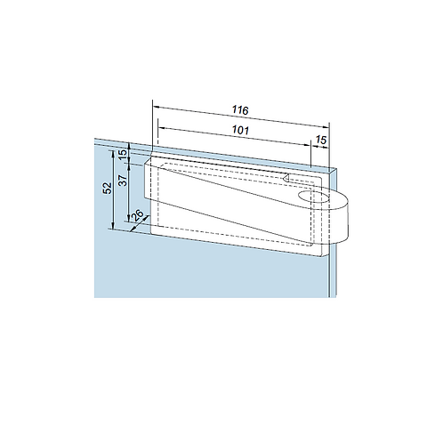 Dorma EA Offset Top Patch Fitting