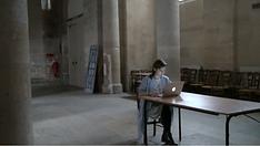 "artiste Ekaterina Vasilyeva, performance ""Human Voice. Translations"", Eglise Saint Eustache, Paris"