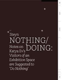Steyn Bergs TIM Magazine#2 Nothing Doing