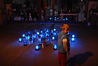 Katya Ev (ekaterina vasilyeva), To Hear With Eyes, installation Nuit Blanche 2016, after the performance Augenmusik, Paris emergency state / état d'urgence, Paris attacks / attentats 2015, emergency lights / gyrophares