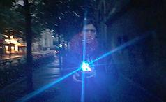 Katya Ev (ekaterina vasilyeva), performance Augenmusik, Paris emergency state / état d'urgence, Paris attacks / attentats 2015, emergency lights / gyrophares