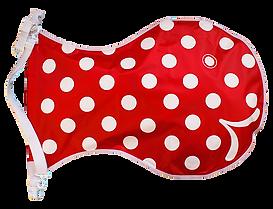 Wickelfisch, Gross, Rot mit Polka dots