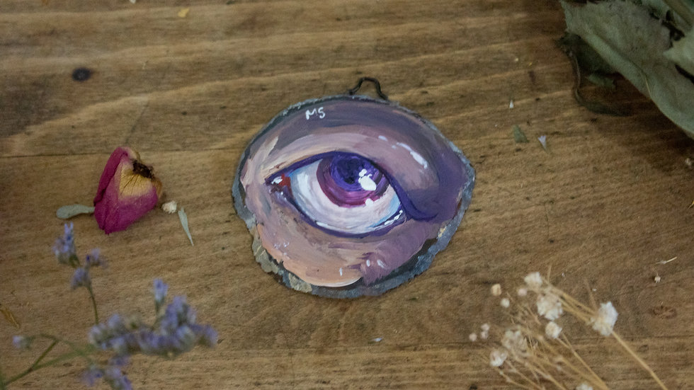 "Original Art on Agate Slices- ""Eye 01"""