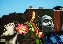Penn-North mural featuring Holiday and Ta-Nehisi Coates.