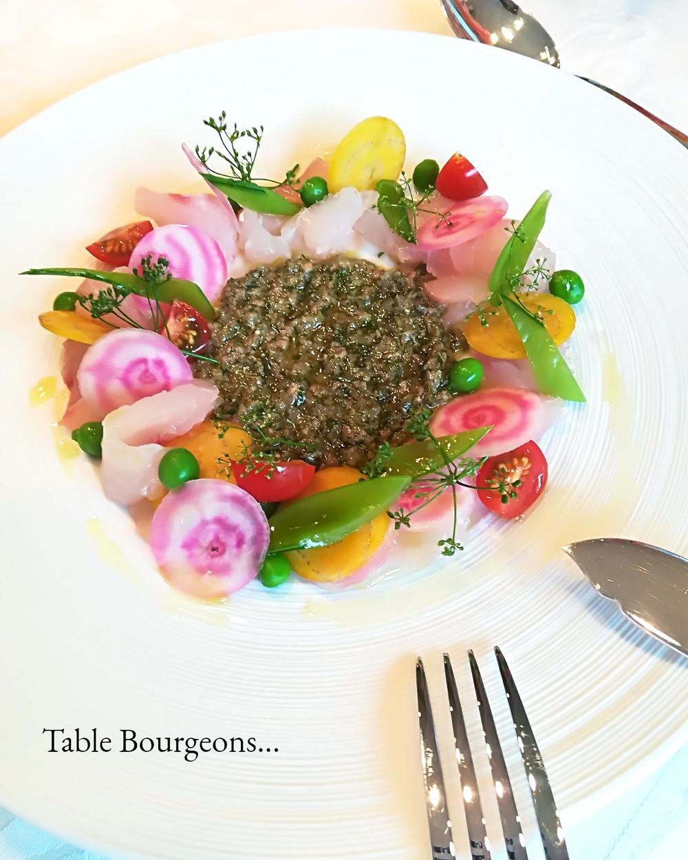 Carpaccio de Dorade, Salade Croquante